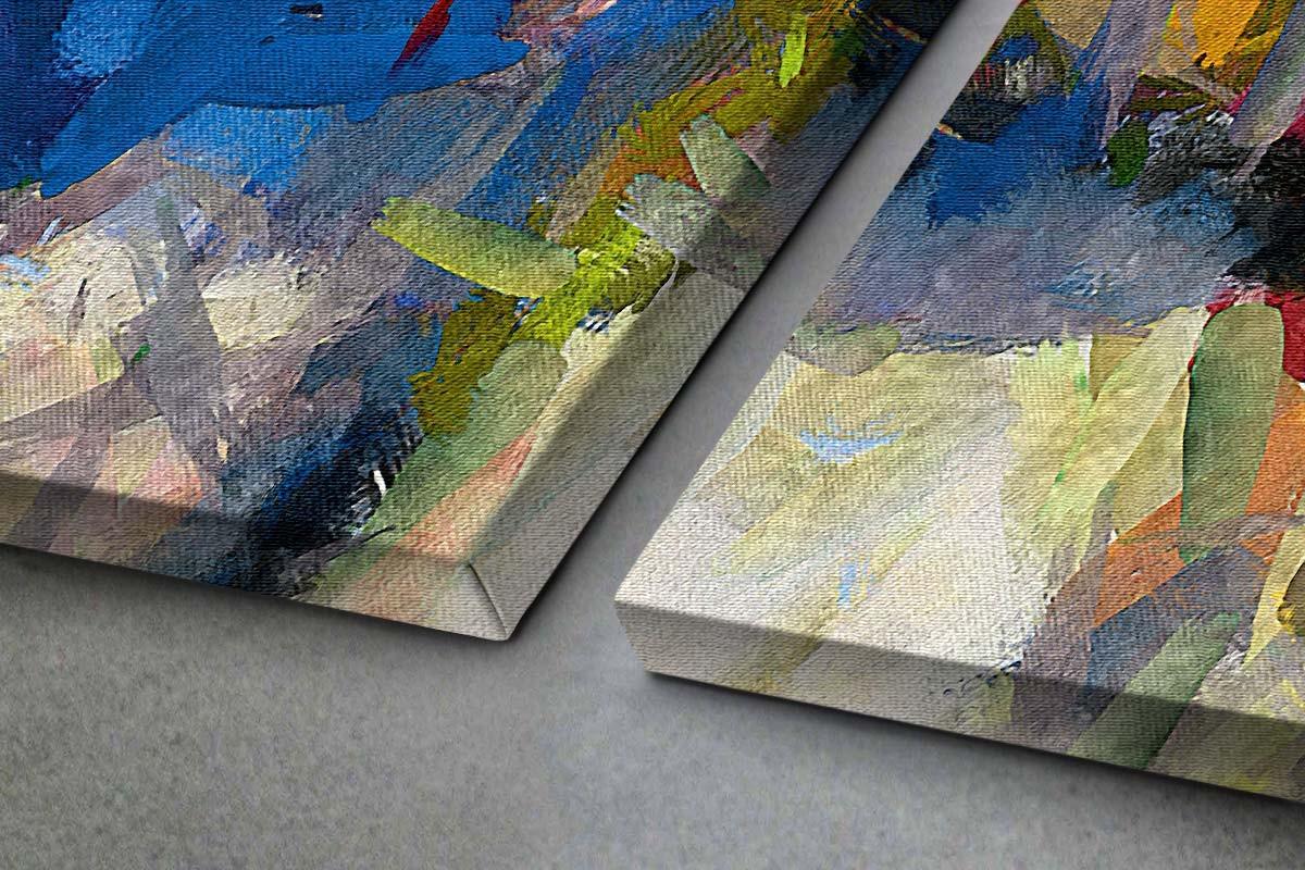 Δίπτυχος πίνακας καμβάς ΕΝΤΟΝΑ ΧΡΩΜΑΤΑ