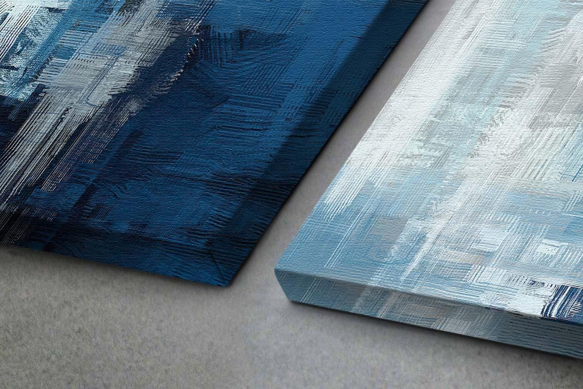 Δίπτυχος πίνακας καμβάς ΕΝΤΟΝΗ ΕΚΦΡΑΣΗ ΤΟΥ ΜΠΛΕ