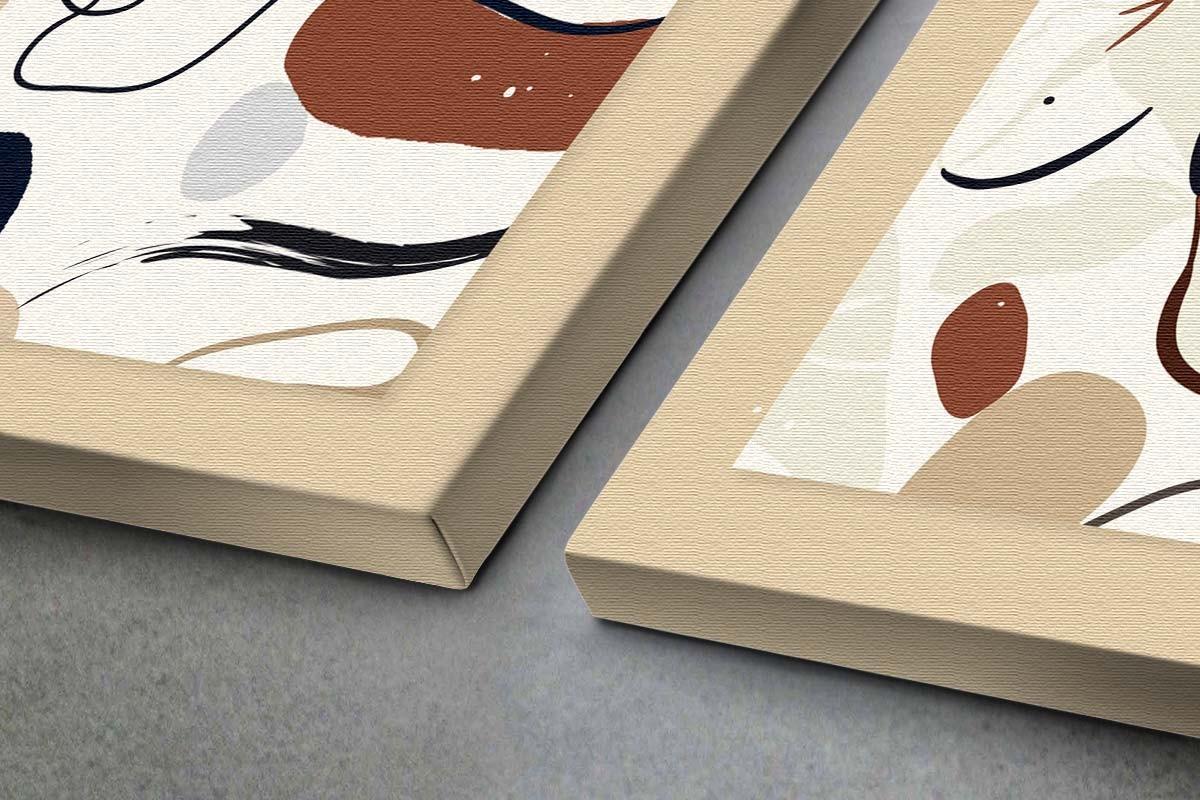 Δίπτυχος πίνακας καμβάς ΓΡΑΜΜΙΚΟ ΣΧΕΔΙΟ ΠΡΟΣΩΠΩΝ