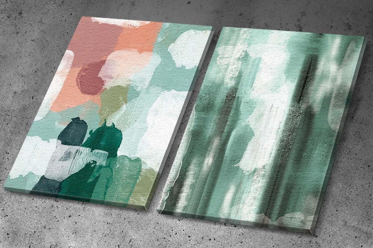 Δίπτυχος πίνακας καμβάς ΑΦΗΡΗΜΕΝΕΣ ΠΑΣΤΕΛ ΠΙΝΕΛΙΕΣ