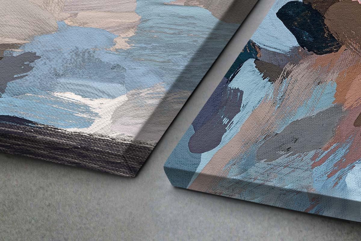 Δίπτυχος πίνακας καμβάς ΣΚΟΤΕΙΝΑ ΠΑΣΤΕΛ ΧΡΩΜΑΤΑ