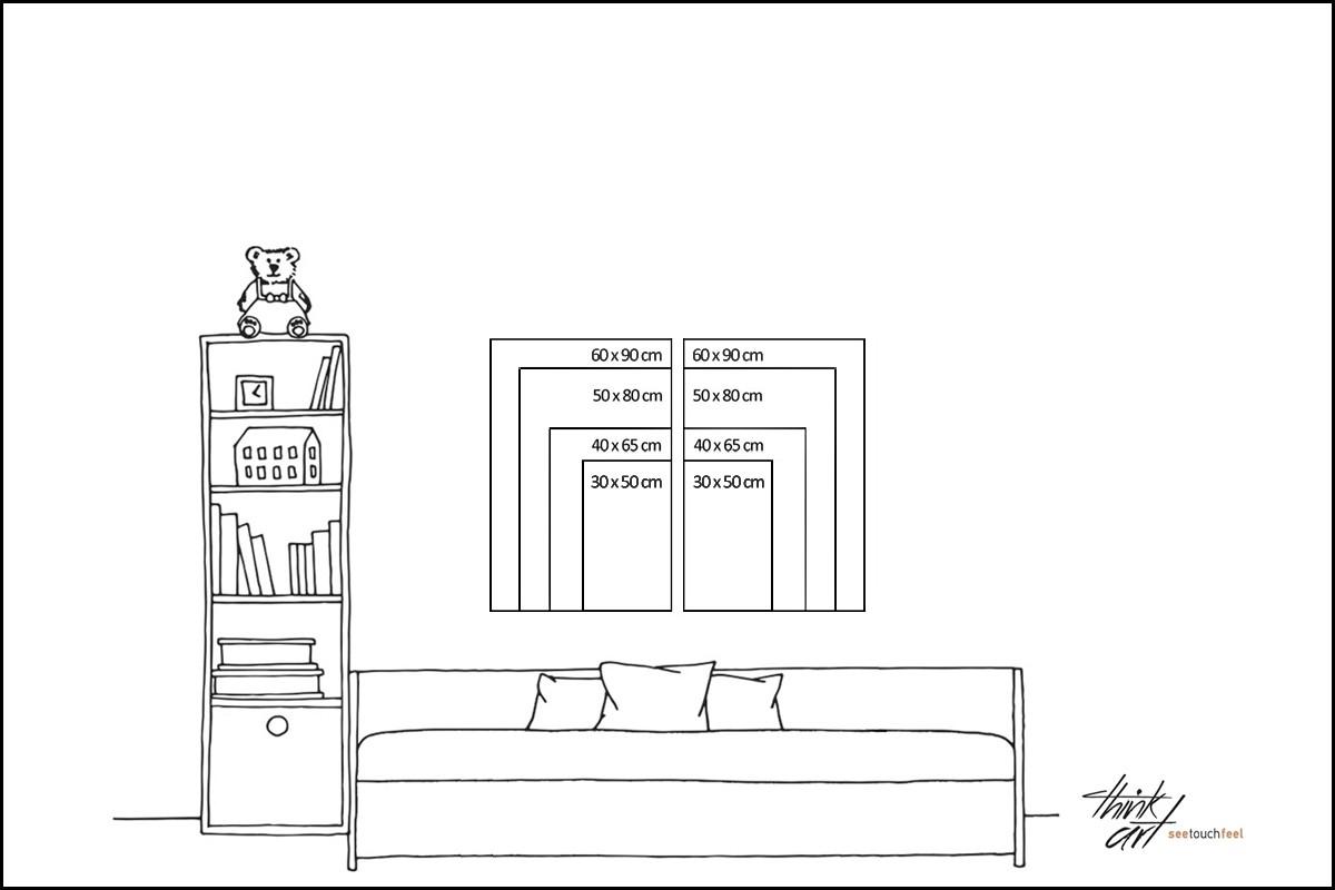 Δίπτυχος πίνακας καμβάς ΟΜΟΡΦΑ ΓΑΤΙΣΙΑ ΒΛΕΜΜΑΤΑ