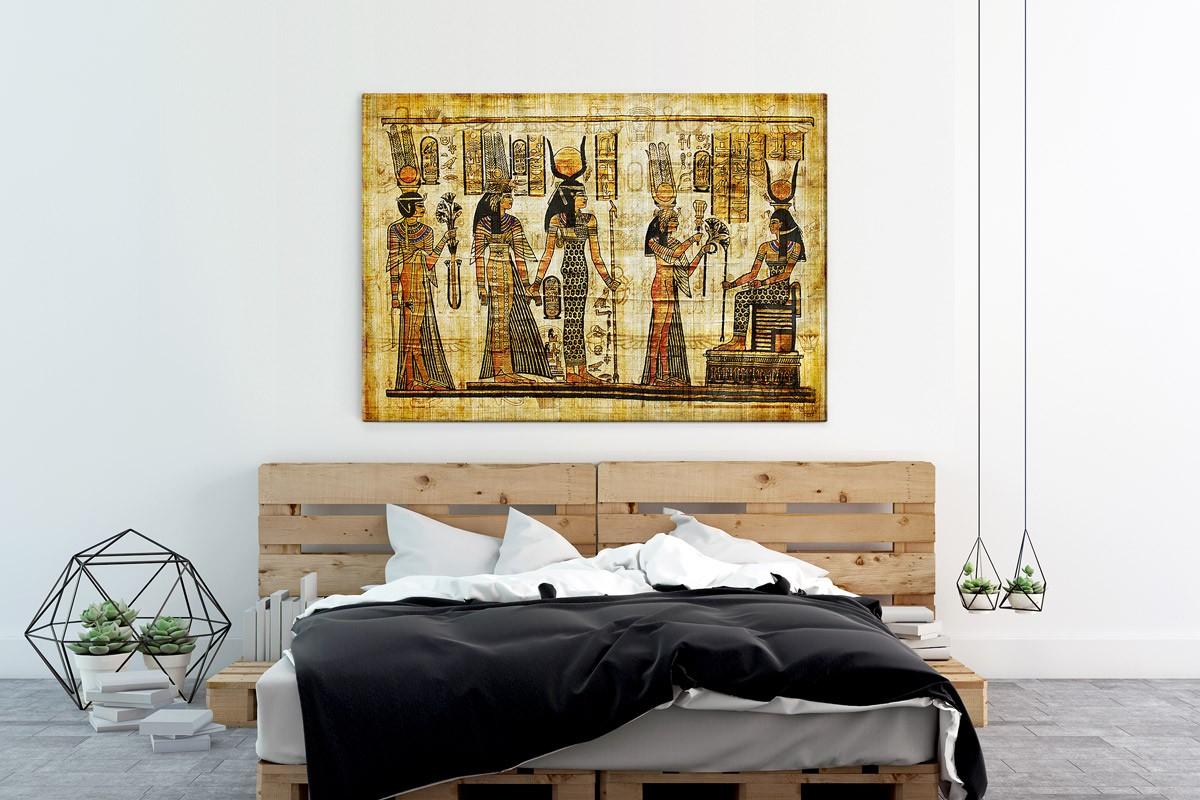 Πίνακας καμβάς ΑΡΧΑΙΟΙ ΑΙΓΥΠΤΙΟΙ - ΠΑΠΥΡΟΣ