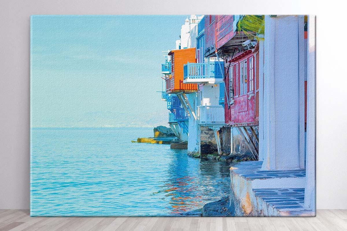 Πίνακας καμβάς ΚΟΝΤΙΝΟ ΣΤΗ ΜΙΚΡΗ ΒΕΝΕΤΙΑ - ΜΥΚΟΝΟΣ