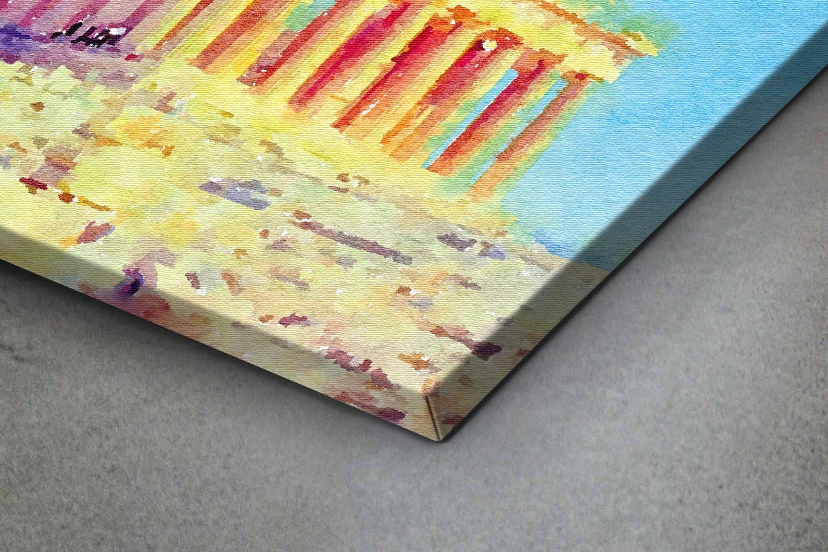 Πίνακας καμβάς ΠΑΡΘΕΝΩΝΑΣ - ΑΚΟΥΑΡΕΛΑ