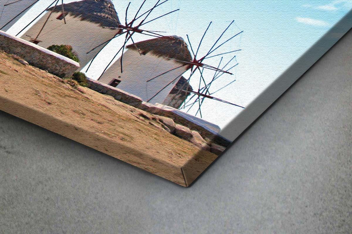 Πίνακας καμβάς ΑΝΕΜΟΜΥΛΟΙ ΤΗΣ ΜΥΚΟΝΟΥ ΜΙΑ ΗΛΙΟΛΟΥΣΤΗ ΜΕΡΑ
