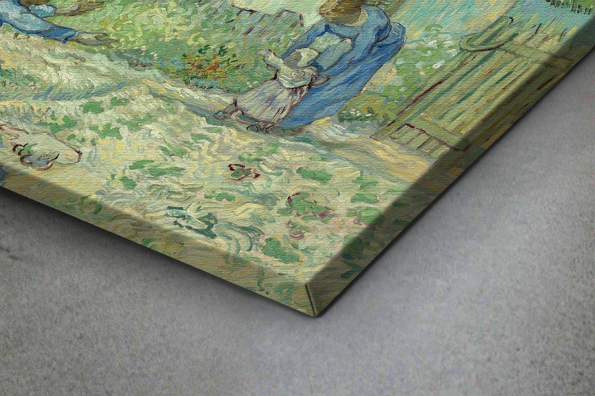 Πίνακας καμβάς FIRST STEPS, AFTER MILLET - VAN GOGH