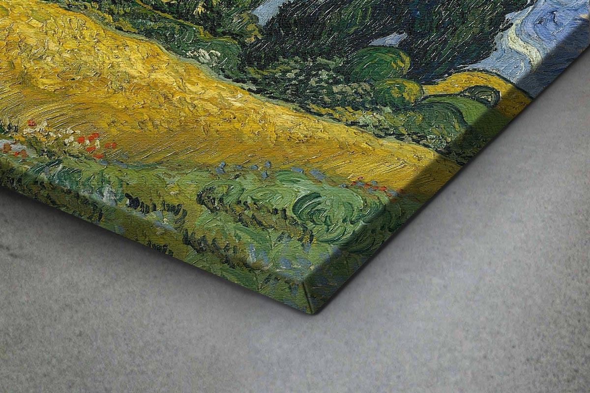 Πίνακας καμβάς WHEAT FIELD WITH CYPRESSES - VAN GOGH