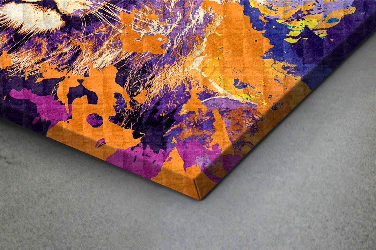 Πίνακας καμβάς ΠΡΟΣΩΠΟ ΛΙΟΝΤΑΡΙΟΥ - ΑΦΗΡΗΜΕΝΟ