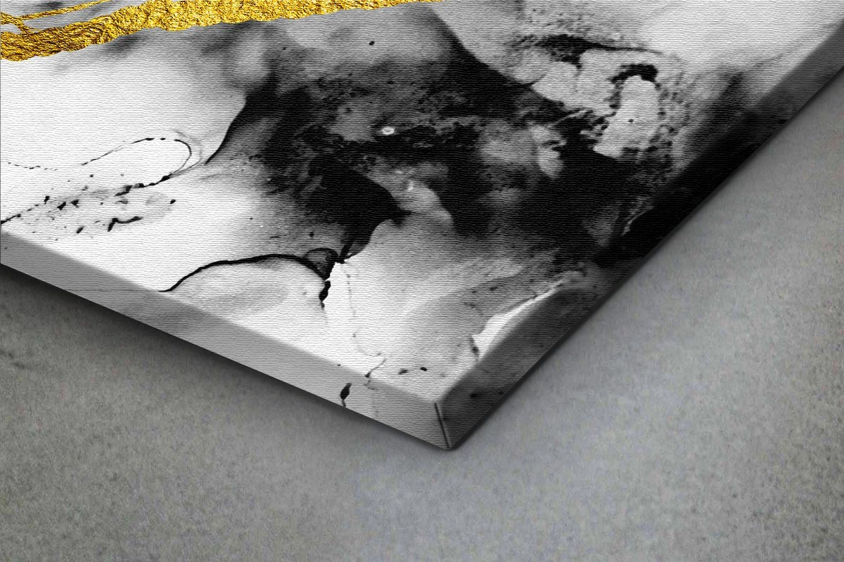 Πίνακας καμβάς ΧΡΥΣΗ ΑΠΟΤΥΠΩΣΗ ΣΕ ΣΚΟΥΡΑ ΣΥΝΝΕΦΑ