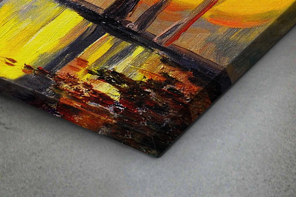 Πίνακας καμβάς ΦΘΙΝΟΠΩΡΙΝΟΣ ΔΡΟΜΟΣ ΜΕ ΦΑΝΑΡΙΑ