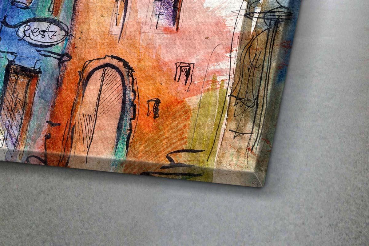 Πίνακας καμβάς ΣΠΙΤΙΑ ΣΤΗ ΒΑΥΑΡΙΑ - ΝΕΡΟΜΠΟΓΙΑ
