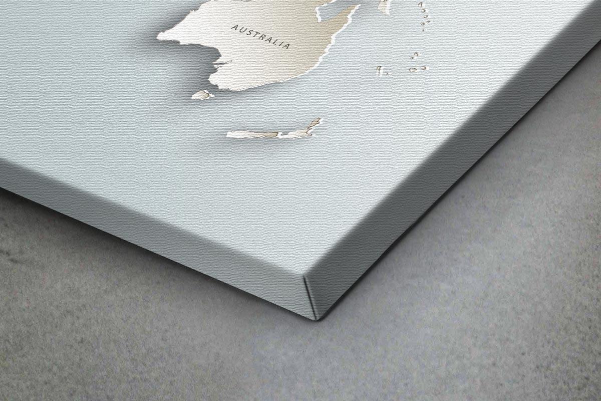 Πίνακας καμβάς ΠΑΓΚΟΣΜΙΟΣ ΧΑΡΤΗΣ 3D