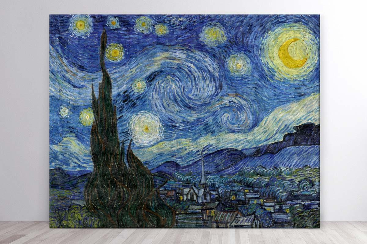 Πίνακας καμβάς ΕΝΑΣΤΡΗ ΝΥΧΤΑ - VAN GOGH