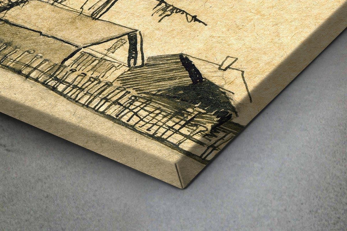 Πίνακας καμβάς ΣΚΙΤΣΟ ΧΕΙΜΕΡΙΝΗΣ ΚΩΜΟΠΟΛΗΣ