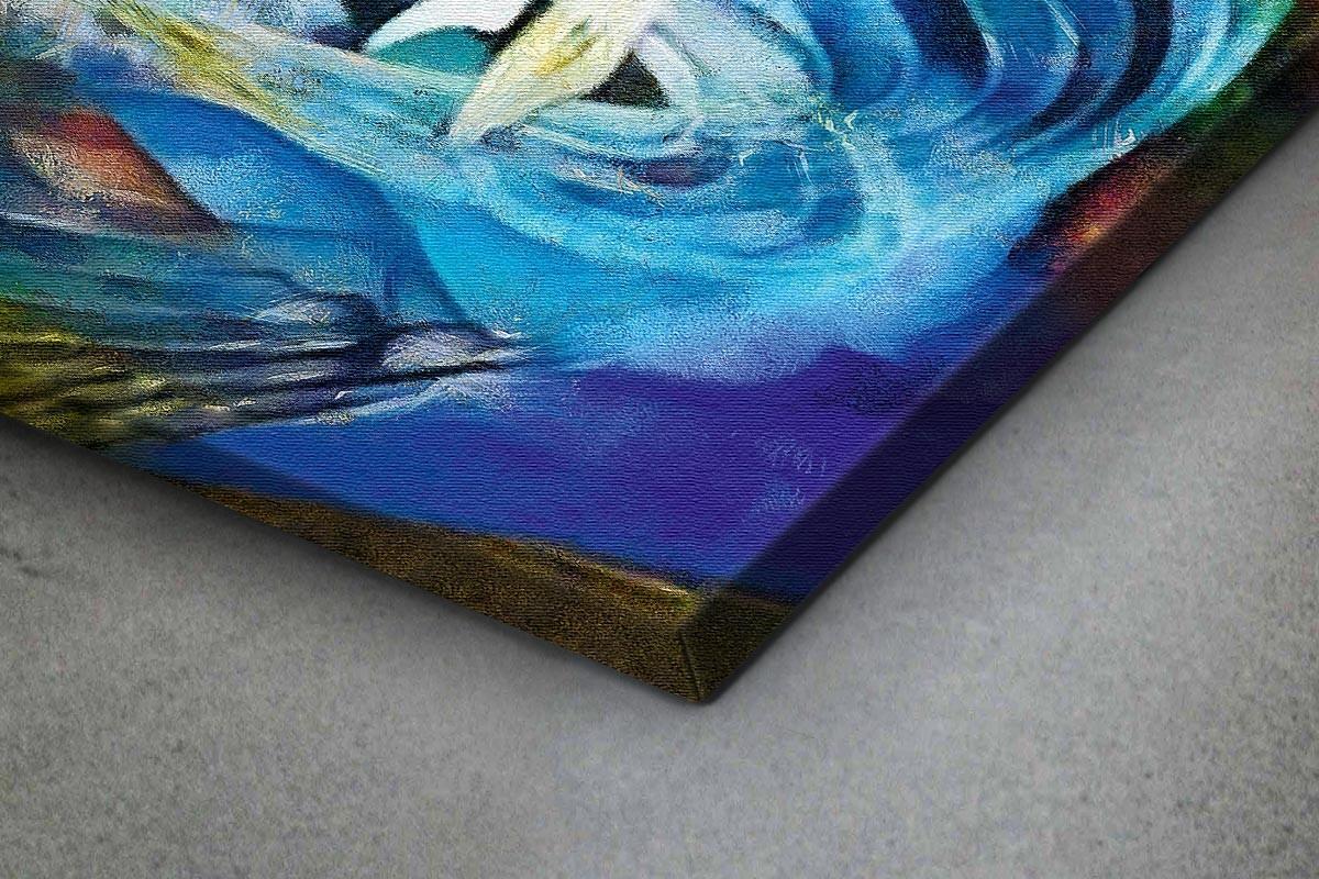 Πίνακας καμβάς ΦΩΤΕΙΝΟ ΑΦΗΡΗΜΕΝΟ ΣΧΕΔΙΟ