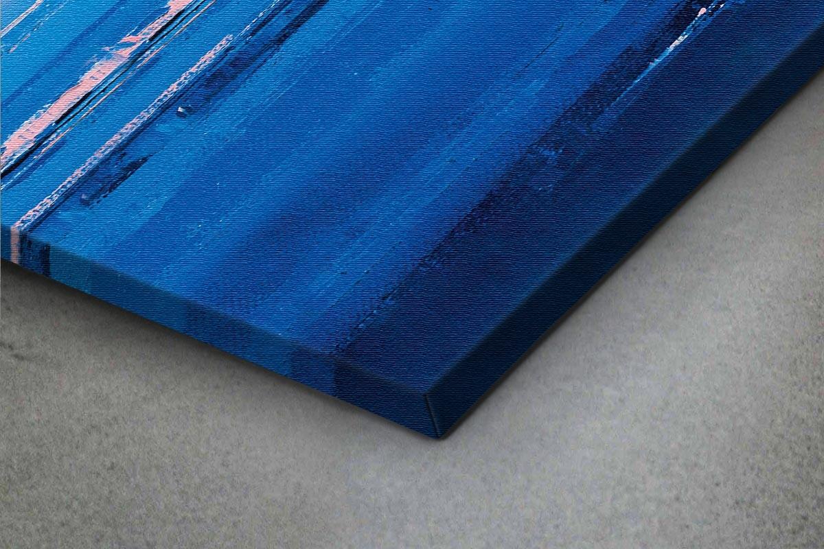 Πίνακας καμβάς ΠΑΡΑΘΑΛΑΣΣΙΑ ΠΟΛΗ ΣΕ ΦΟΝΤΟ ΟΥΡΑΝΙΟΥ ΤΟΞΟΥ