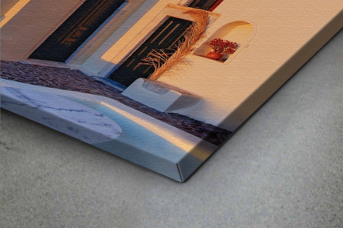 Πίνακας καμβάς ΗΛΙΟΒΑΣΙΛΕΜΑ ΣΤΗΝ ΣΑΝΤΟΡΙΝΗ