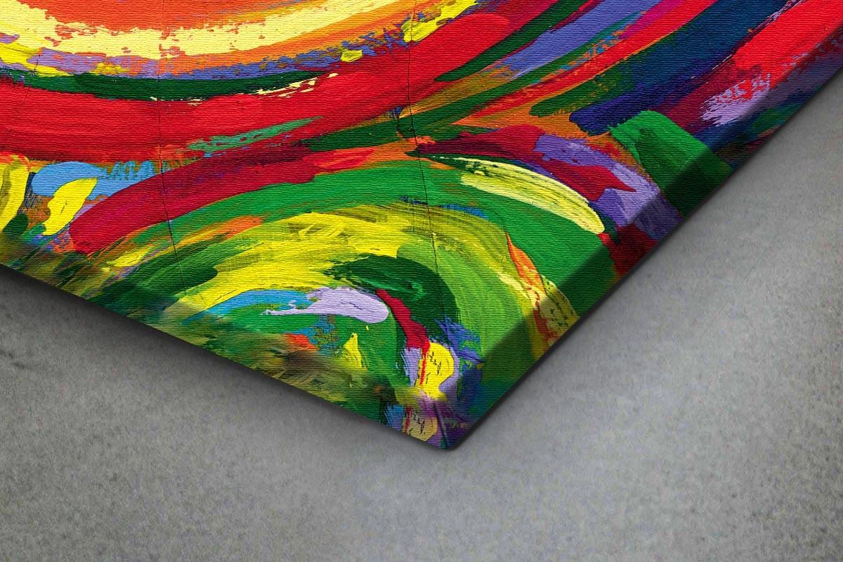Πίνακας καμβάς ΚΟΚΚΙΝΟΙ ΠΕΡΙΣΤΡΕΦΟΜΕΝΟΙ ΚΥΚΛΟΙ