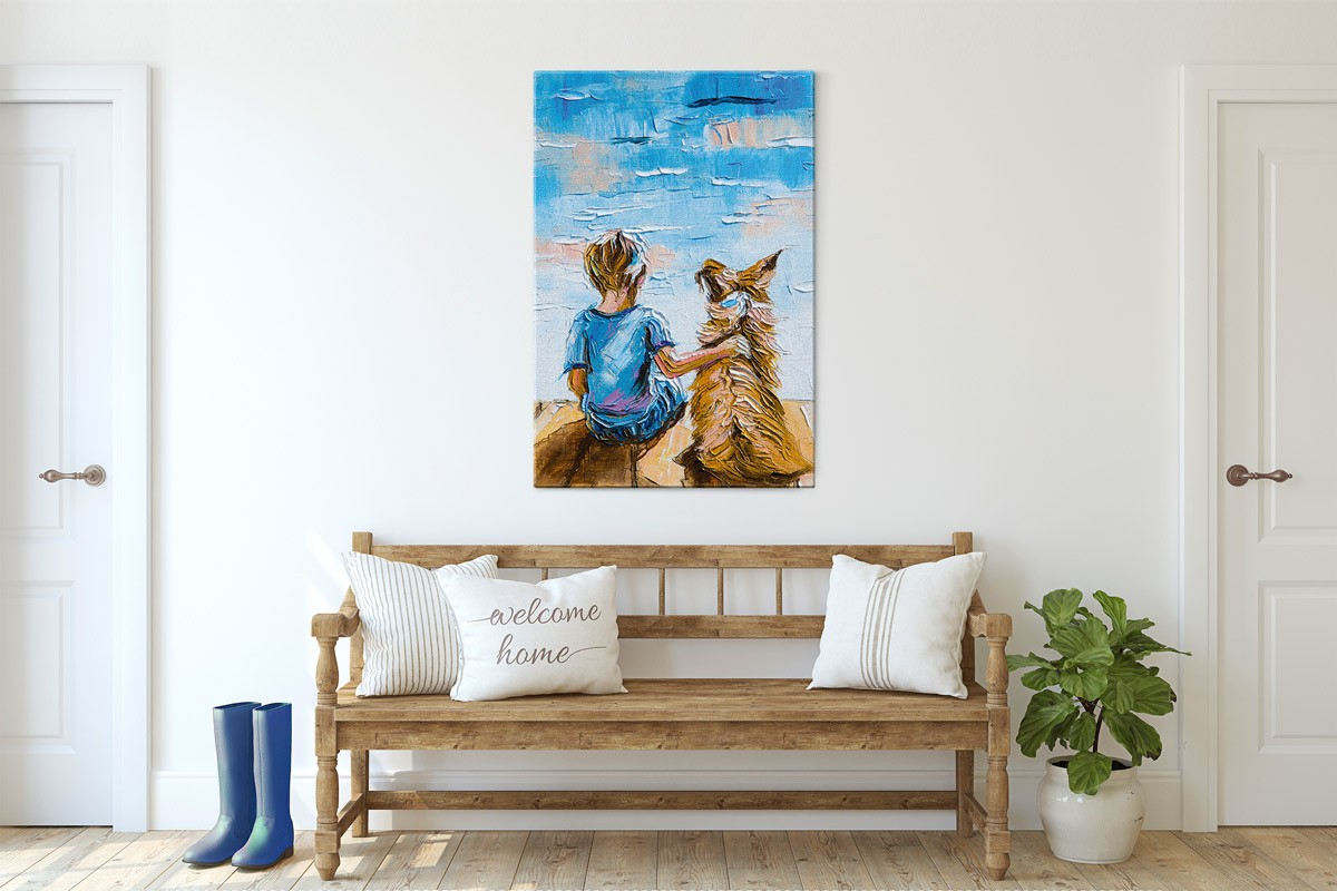 Πίνακας καμβάς ΚΑΛΥΤΕΡΟΙ ΦΙΛΟΙ