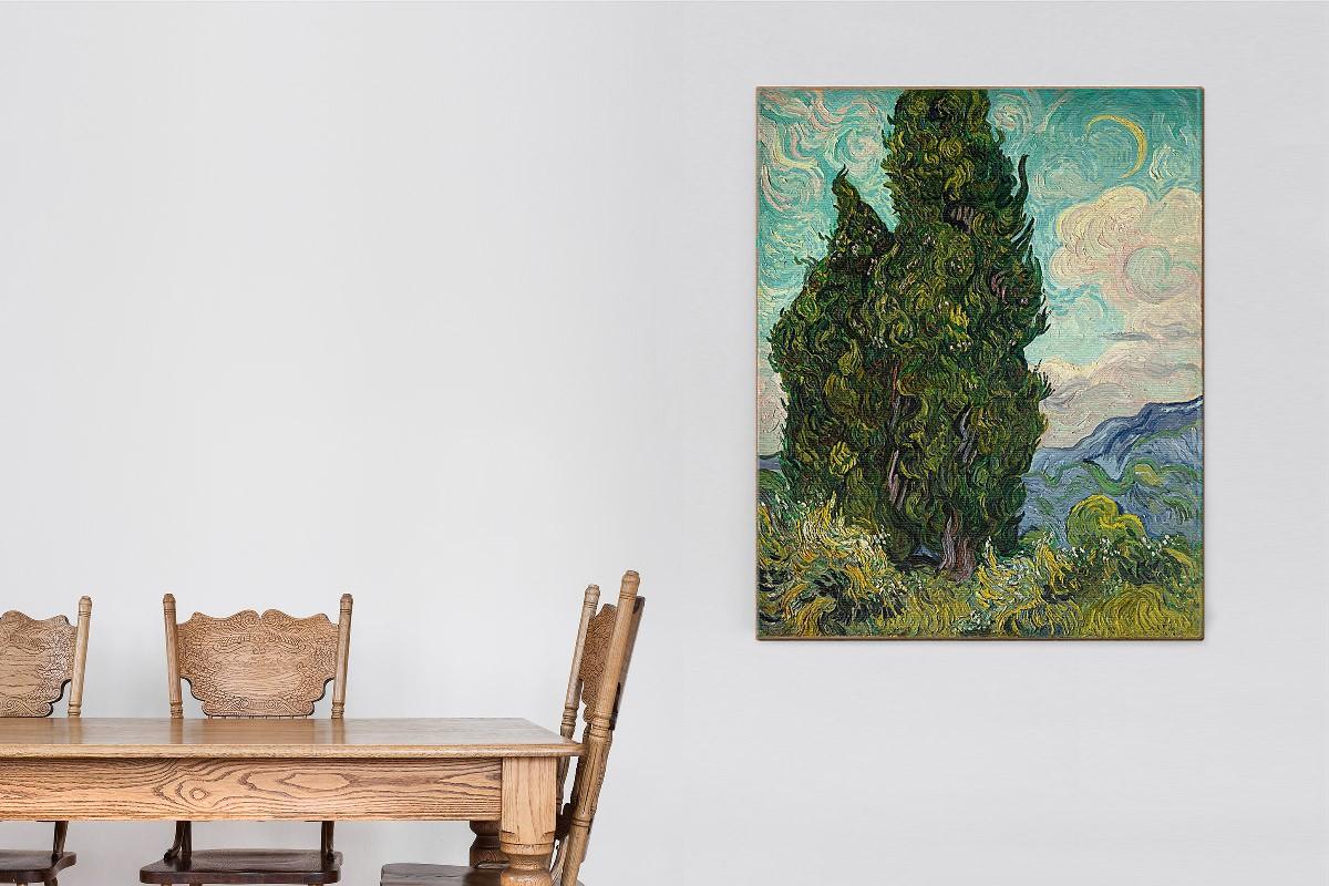Πίνακας καμβάς CYPRESSES - VAN GOGH