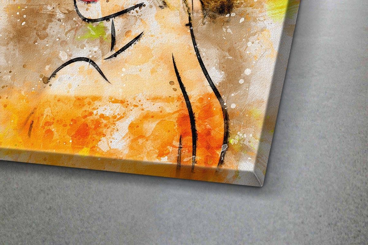 Πίνακας καμβάς ΠΟΡΤΡΕΤΟ - ΠΟΡΤΟΚΑΛΙ ΖΩΓΡΑΦΙΑ