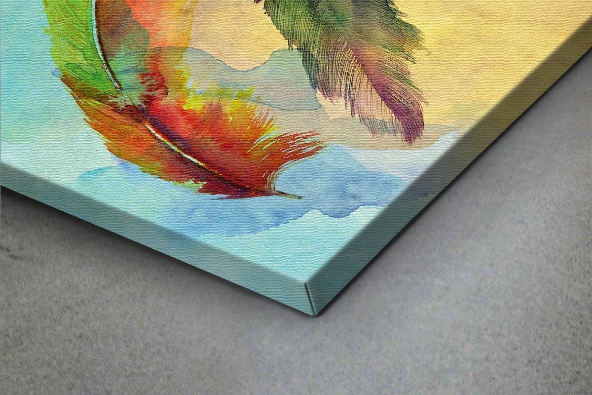 Πίνακας καμβάς ΠΟΛΥΧΡΩΜΑ ΦΤΕΡΑ