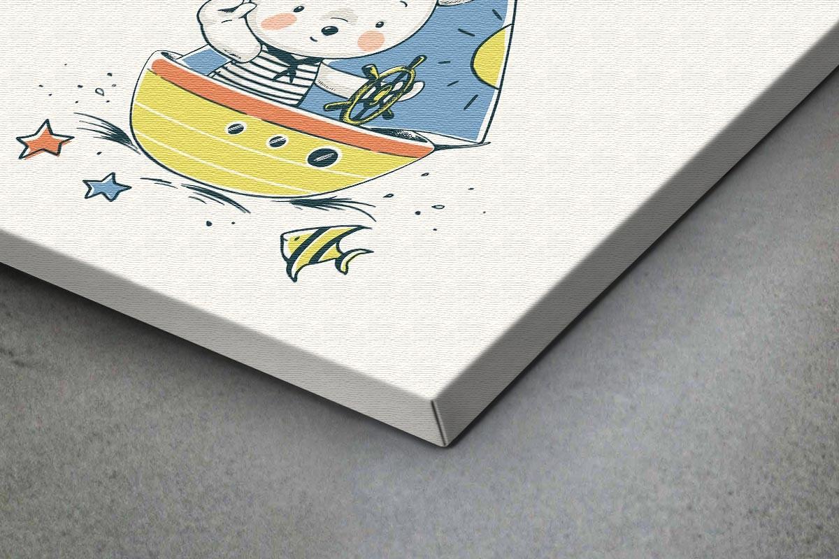 Πίνακας καμβάς ΝΑΥΤΗΣ - ΠΟΛΙΚΟ ΑΡΚΟΥΔΑΚΙ