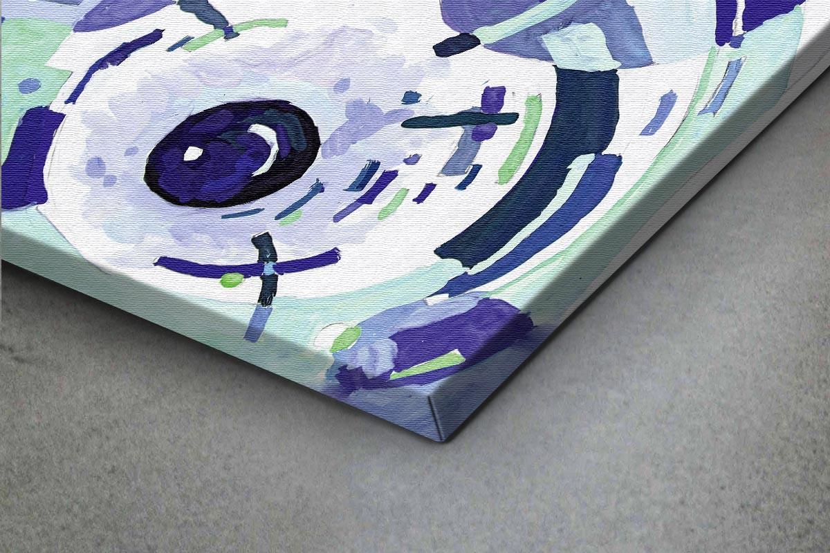 Πίνακας καμβάς ΑΦΗΡΗΜΕΝΗ ΣΥΝΘΕΣΗ - ΜΠΛΕ