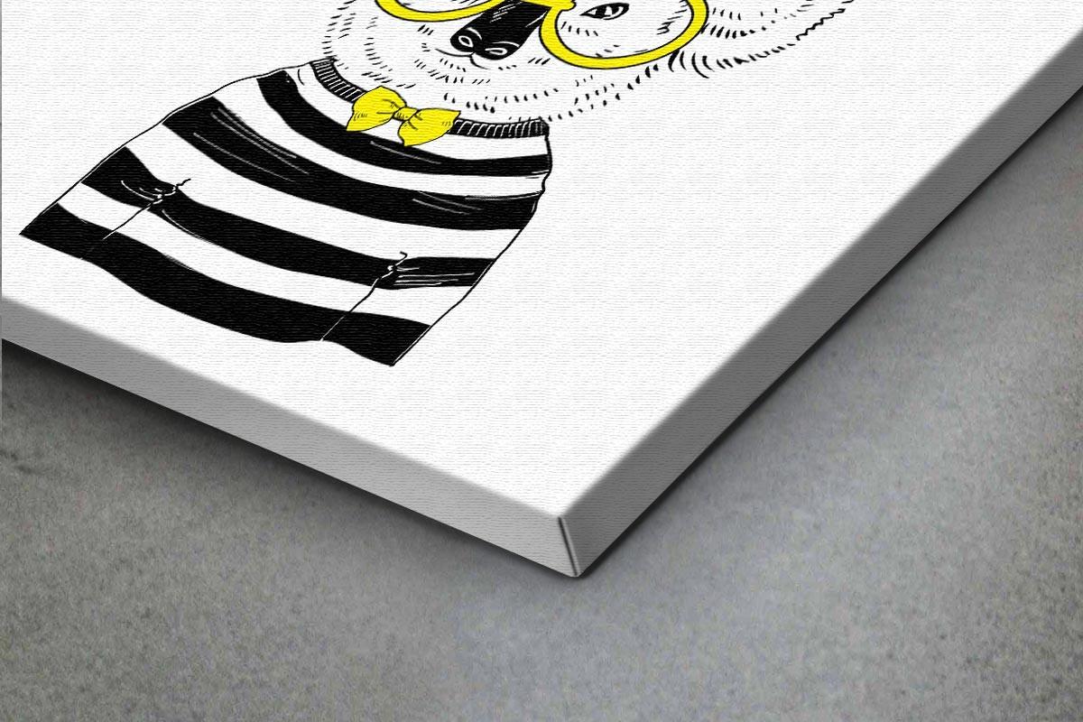 Πίνακας καμβάς ΚΟΑΛΑ ΜΕ ΚΙΤΡΙΝΑ ΓΥΑΛΙΑ & ΚΑΠΕΛΟ