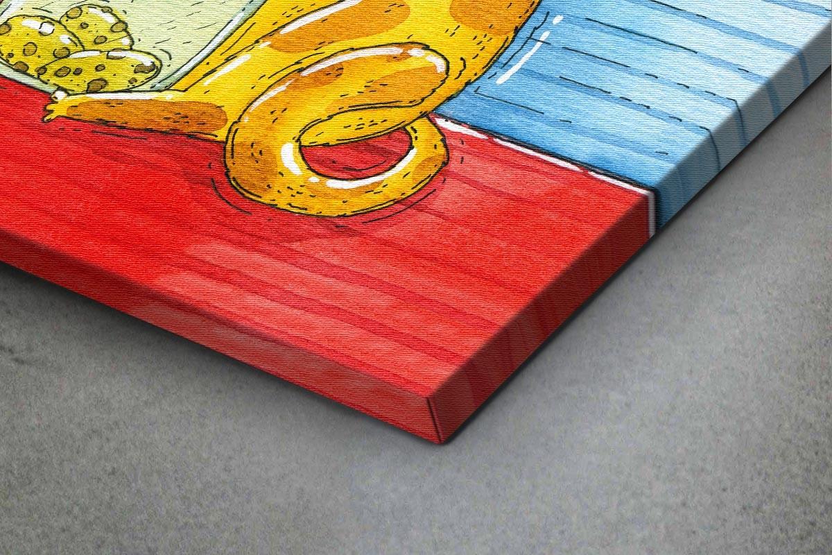 Πίνακας καμβάς Η ΓΑΤΟΥΛΑ ΘΕΛΕΙ ΜΠΙΣΚΟΤΑ