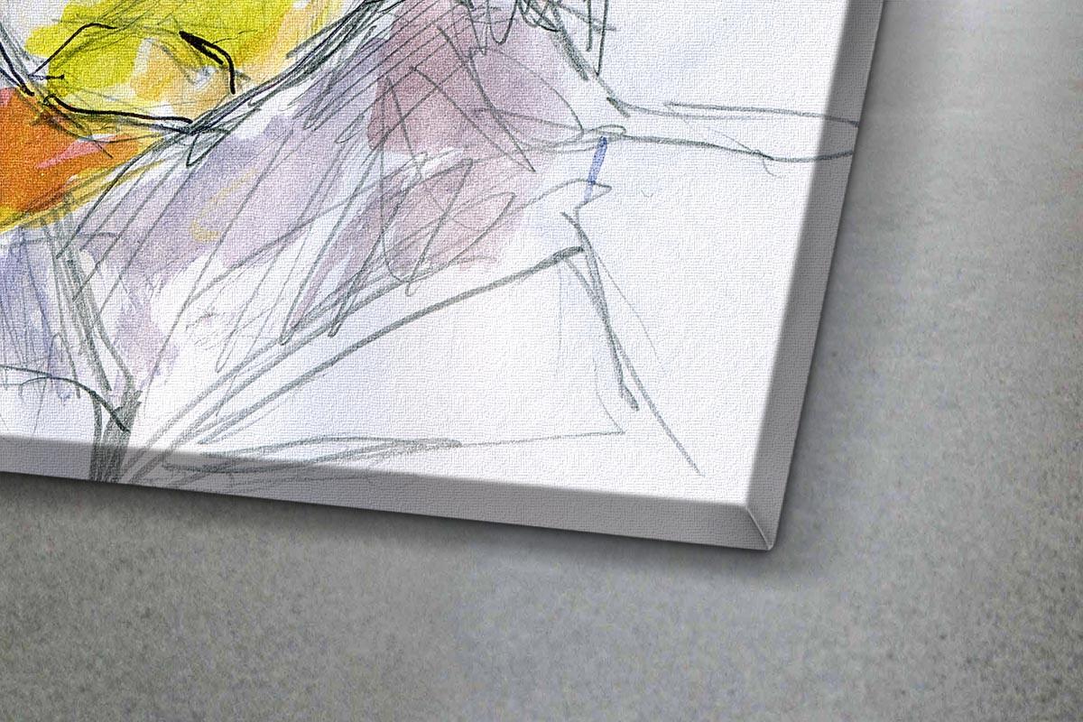 Πίνακας καμβάς ΣΚΙΤΣΟ ΓΥΝΑΙΚΑΣ ΜΕ ΓΥΑΛΙΑ