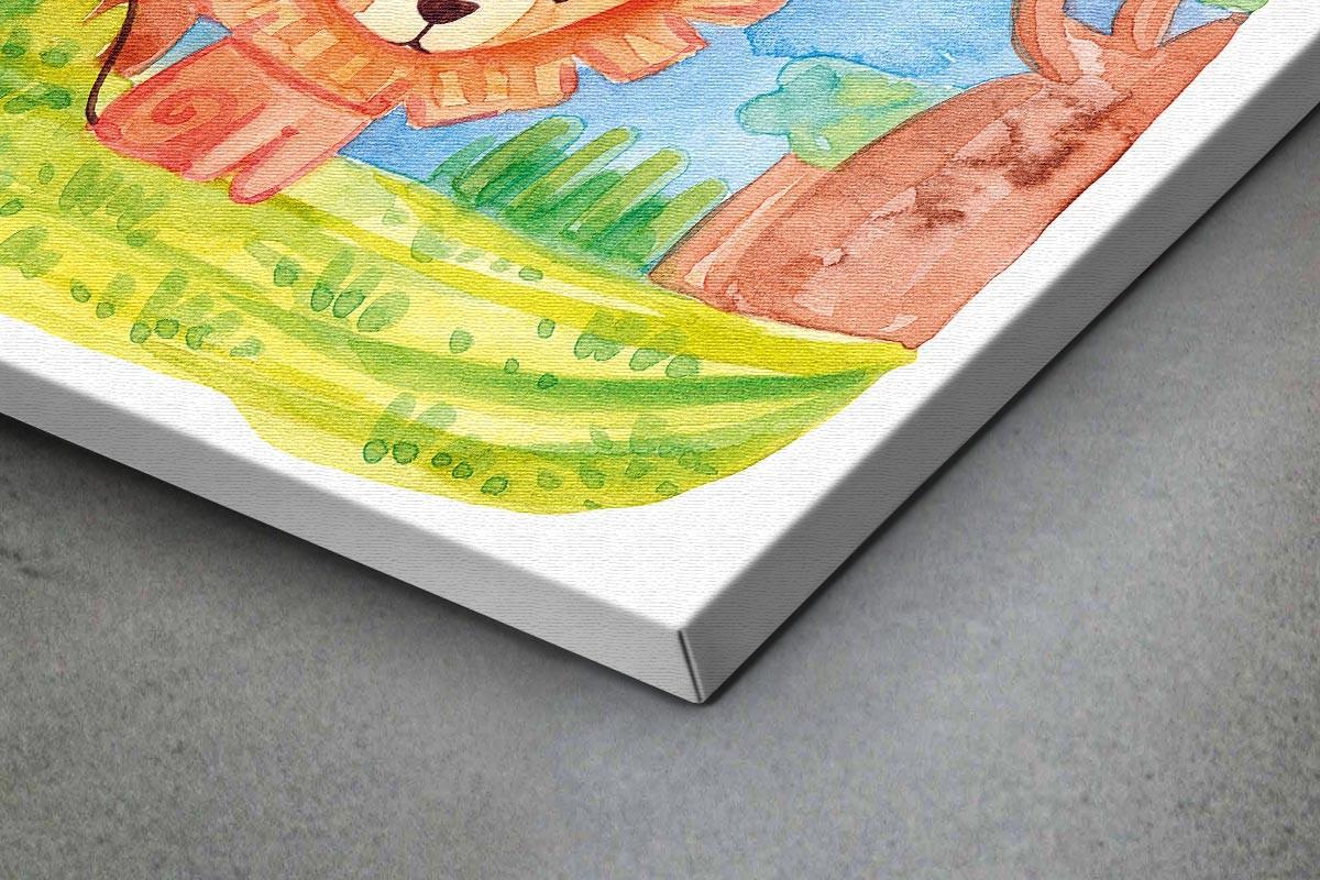 Πίνακας καμβάς ΛΙΟΝΤΑΡΑΚΙ ΣΤΟ ΔΑΣΟΣ