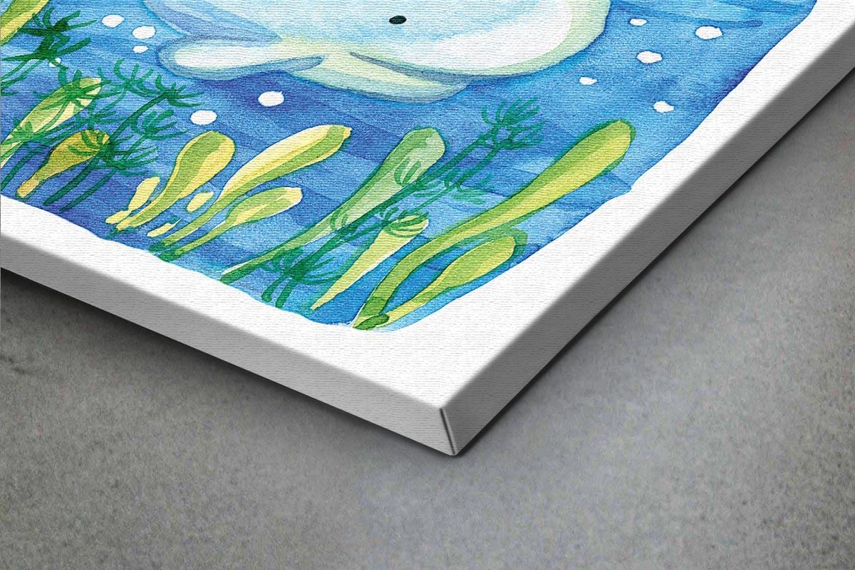 Πίνακας καμβάς ΧΑΡΙΤΩΜΕΝΗ ΦΑΛΑΙΝΑ ΣΤΟΝ ΒΥΘΟ