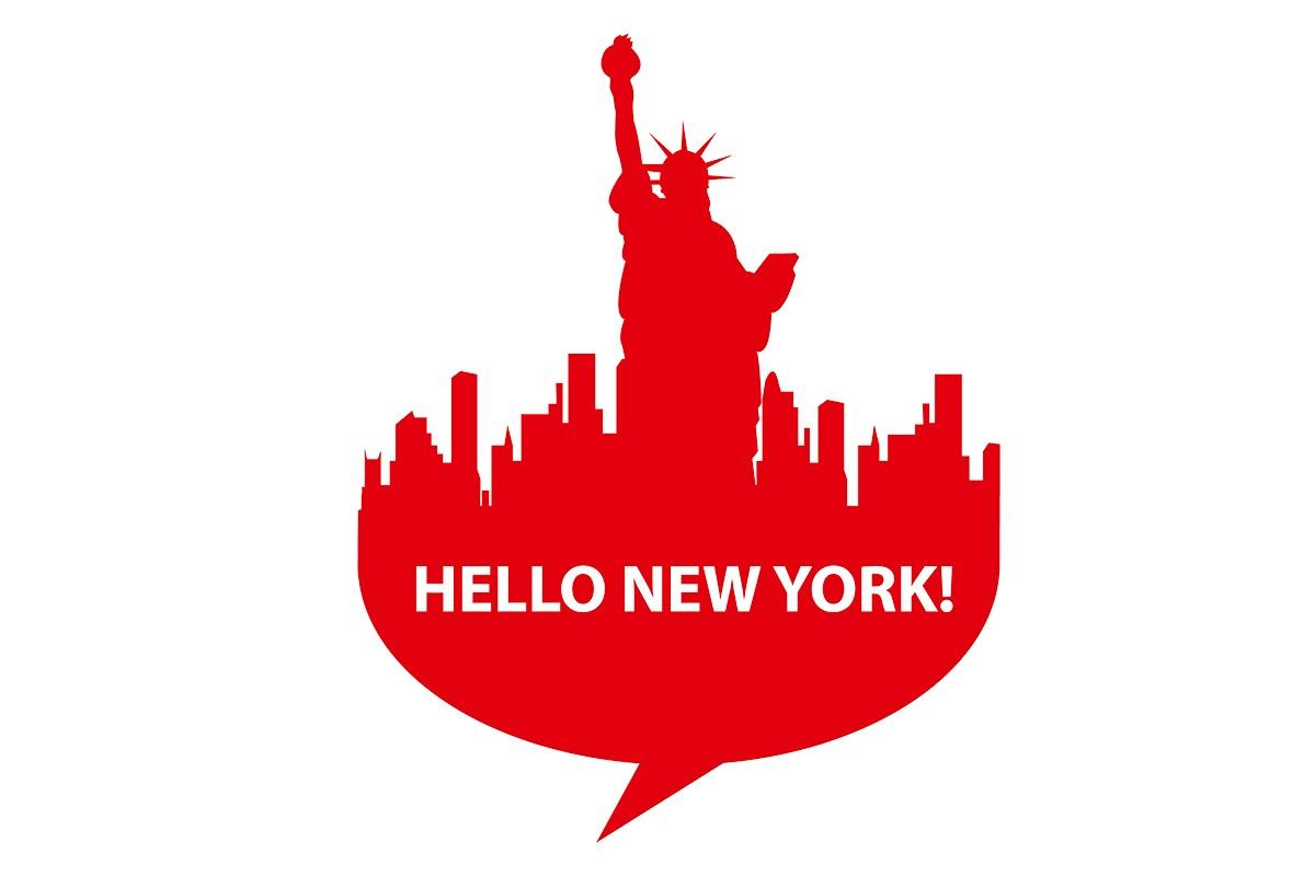 Αυτοκόλλητο τοίχου HELLO NEW YORK