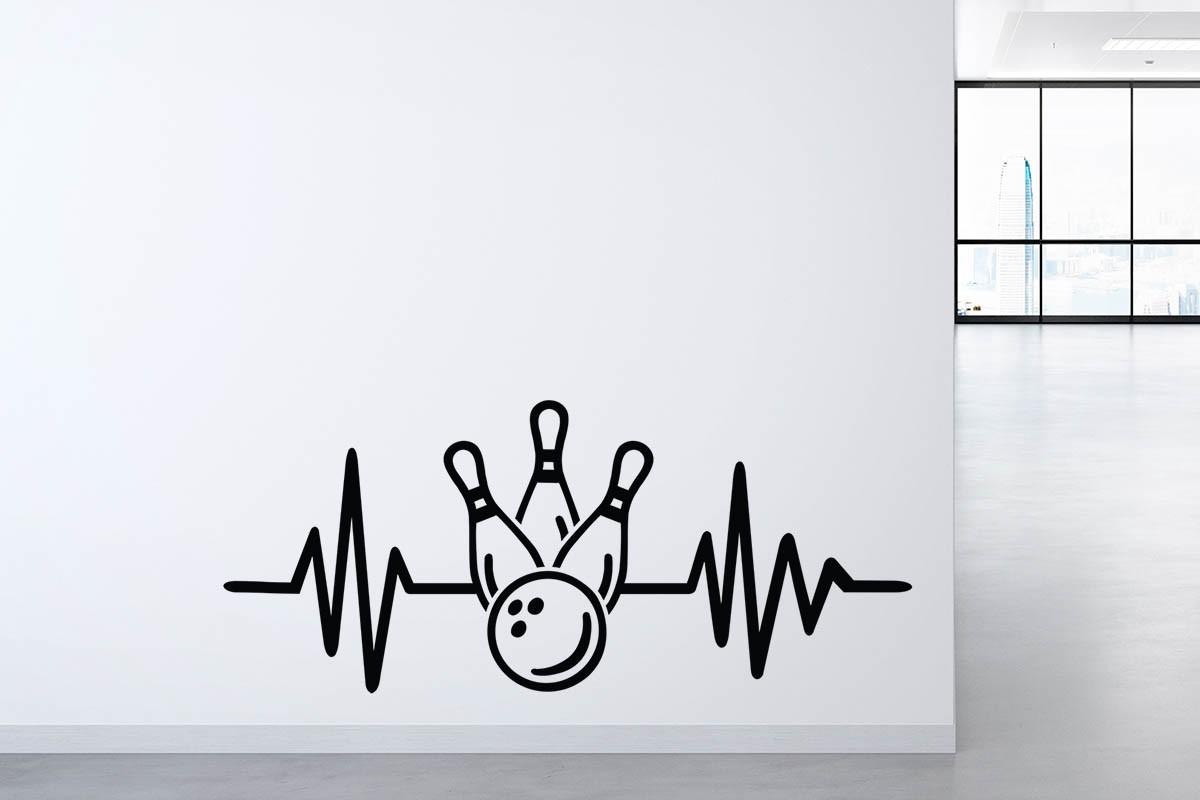 Αυτοκόλλητο τοίχου ΚΟΡΙΝΕΣ ΚΑΙ ΜΠΑΛΑ BOWLING