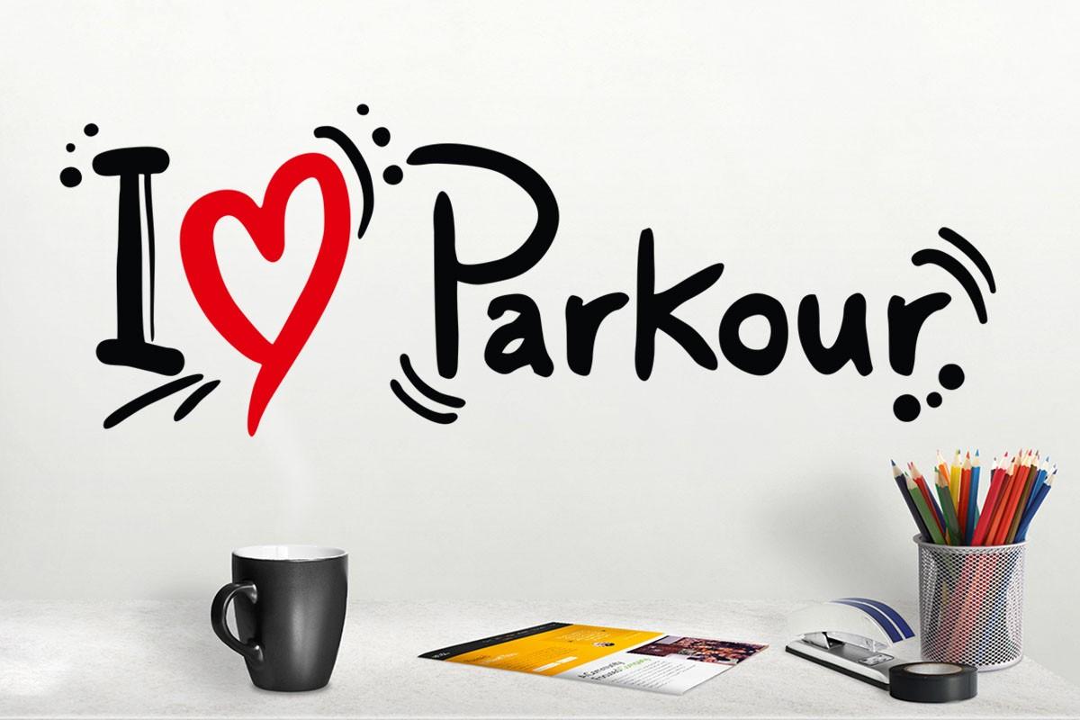 Αυτοκόλλητο τοίχου I LOVE PARKOUR