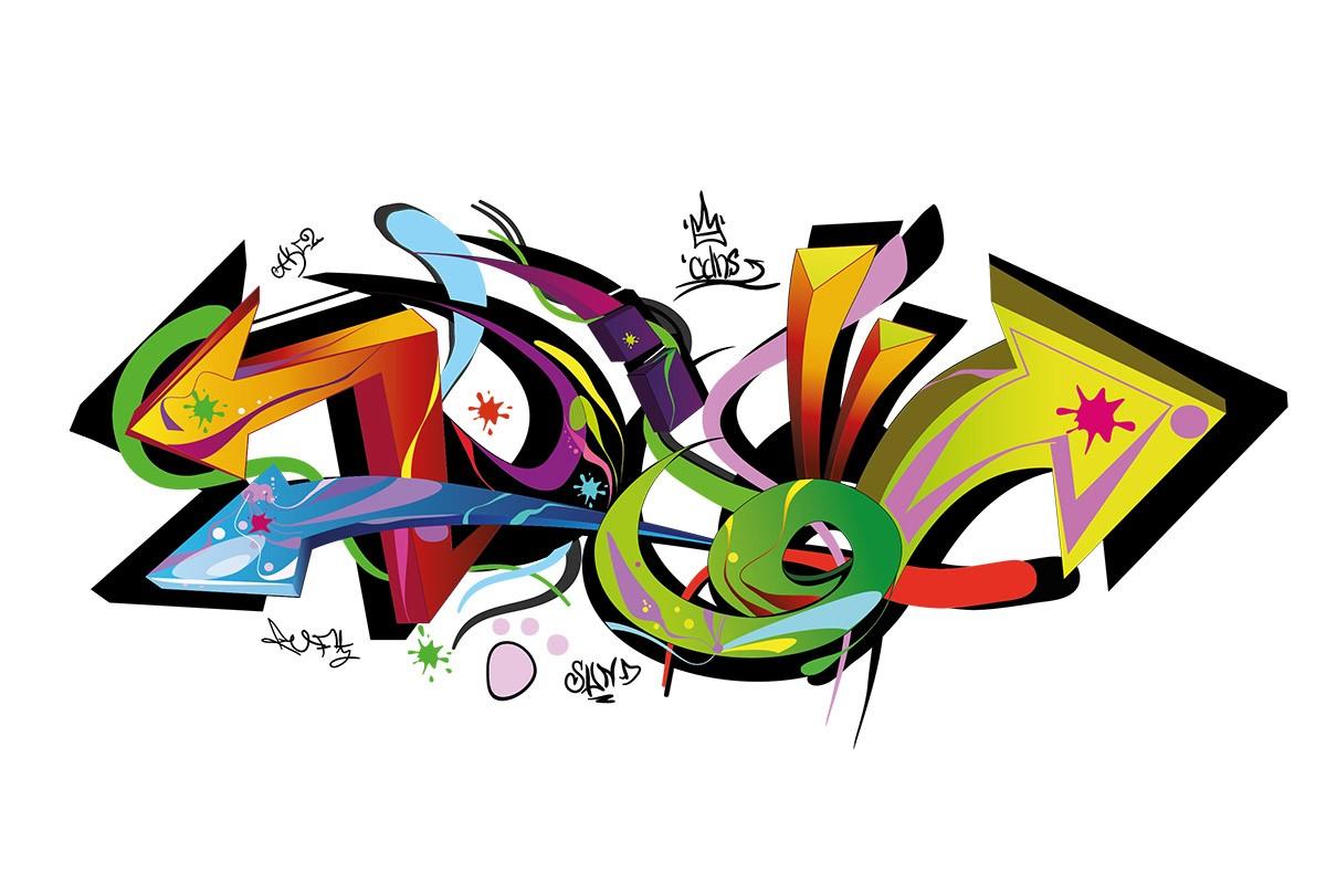 Αυτοκόλλητο τοίχου ΒΕΛΟΣ, STREET ART
