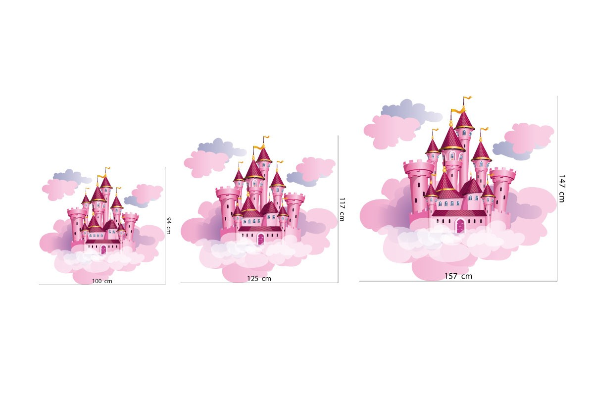 Wall sticker PINK CLOUDS CASTLE