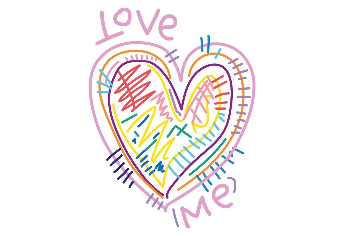 Αυτοκόλλητο τοίχου LOVE ME