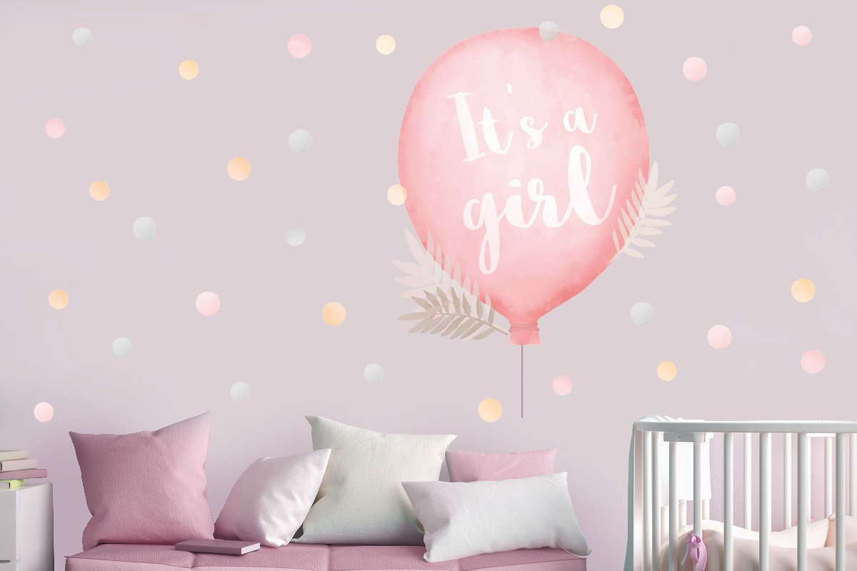 Αυτοκόλλητο τοίχου IT'S A GIRL