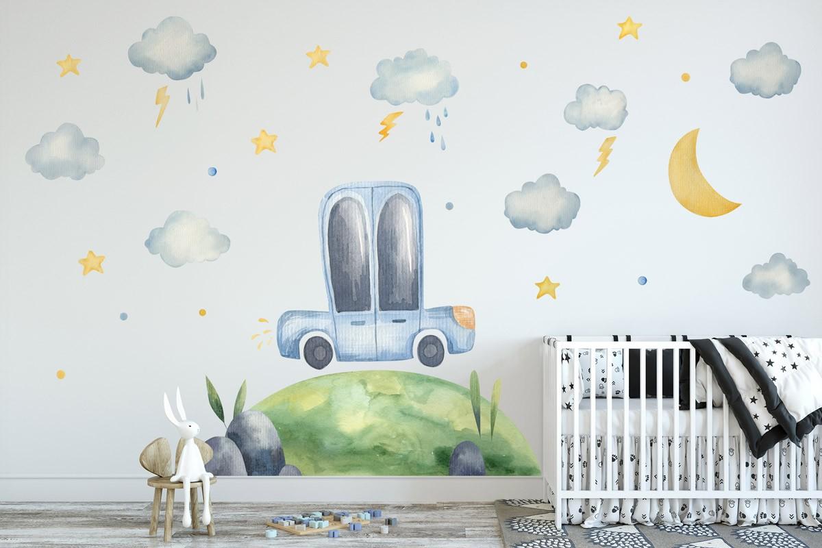 Αυτοκόλλητο τοίχου ΑΥΤΟΚΙΝΗΤΑΚΙ ΞΕΚΙΝΑΕΙ ΤΑΞΙΔΙ