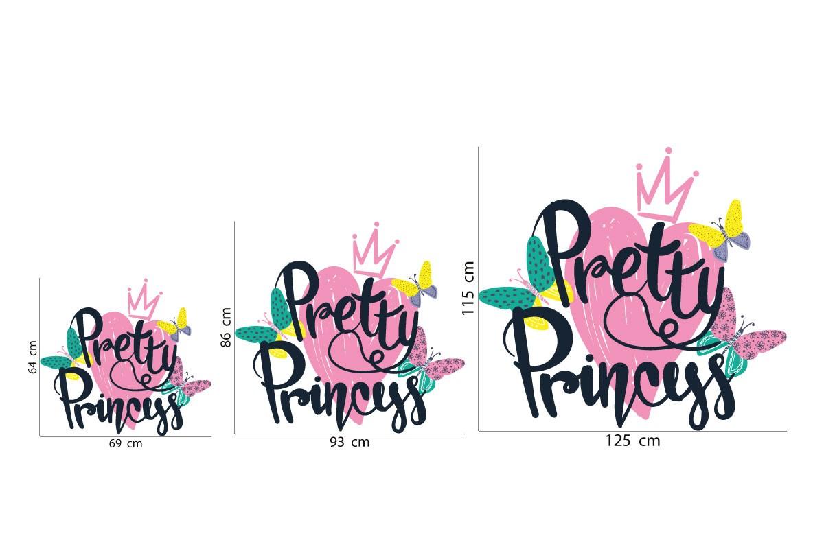 Αυτοκόλλητο τοίχου PRETTY PRINCESS