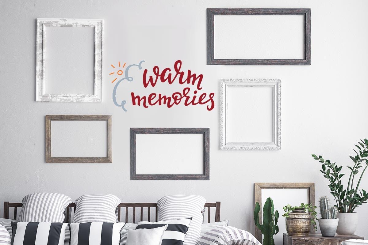 Αυτοκόλλητο τοίχου WARM MEMORIES