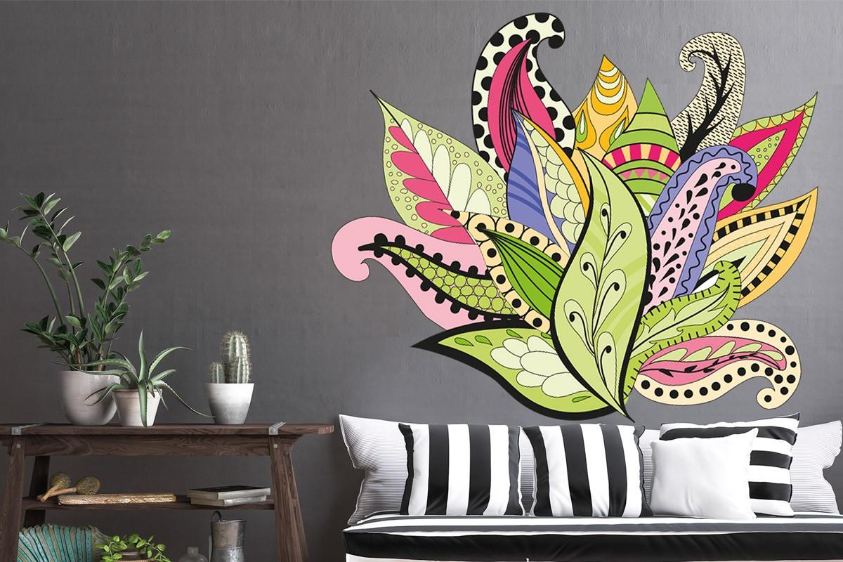 Αυτοκόλλητο τοίχου HIPPIE PLANT