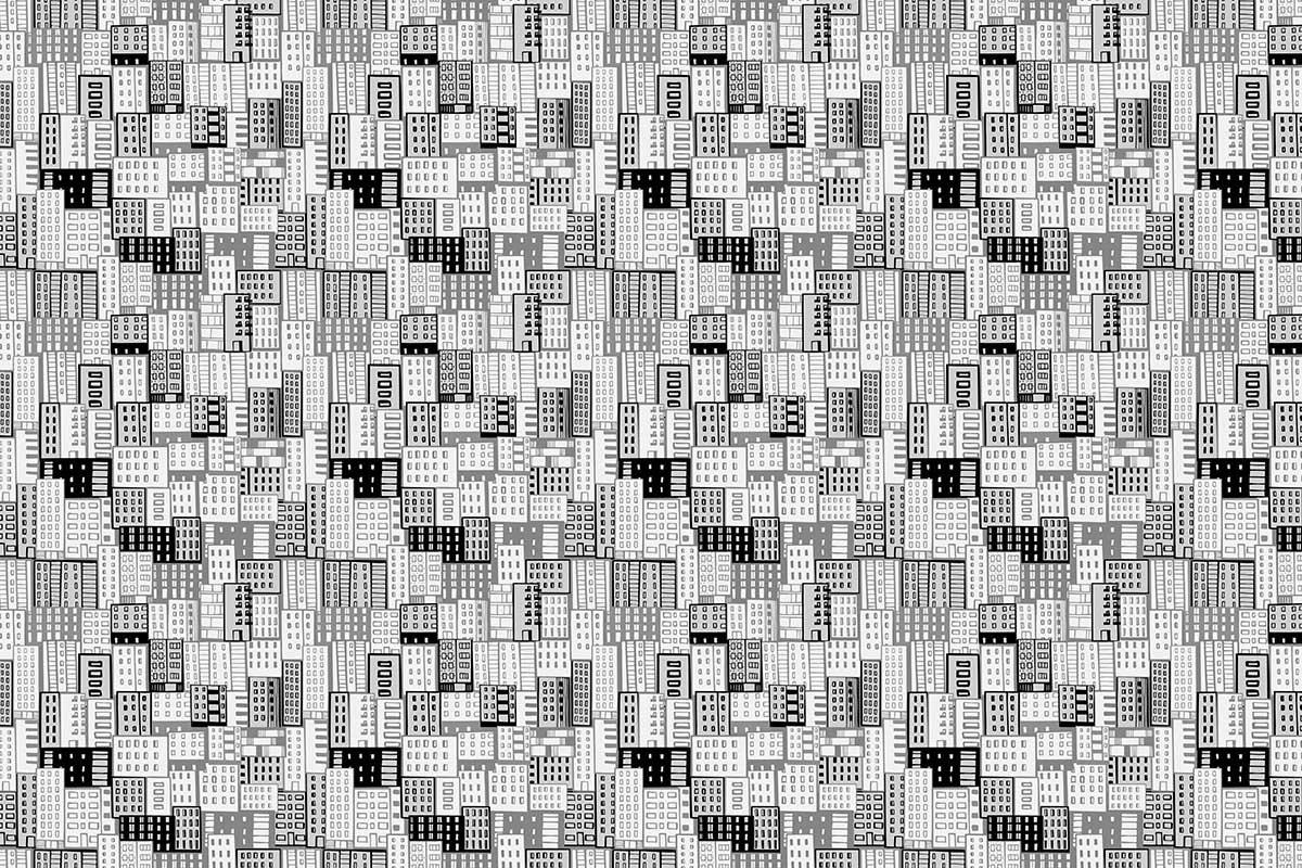Ταπετσαρία τοίχου ΖΩΓΡΑΦΙΑ ΠΟΛΗΣ - B&W