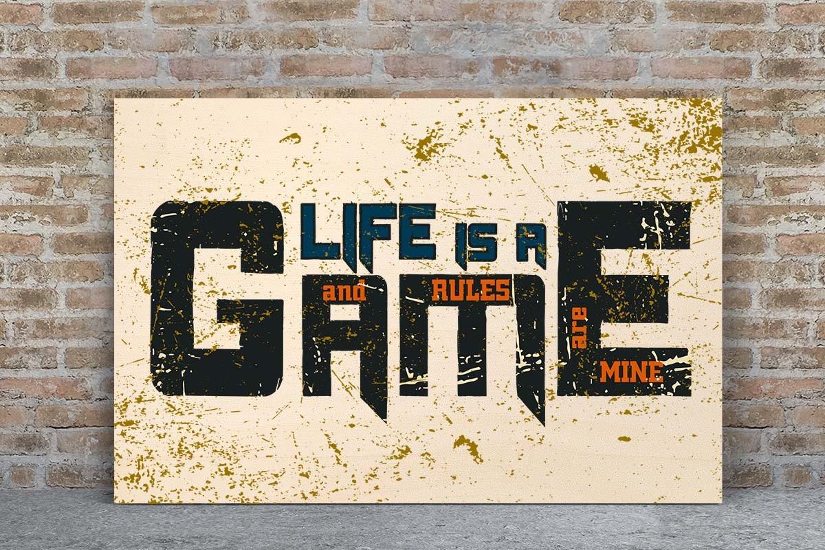 Ξύλινο πόστερ LIFE IS A GAME