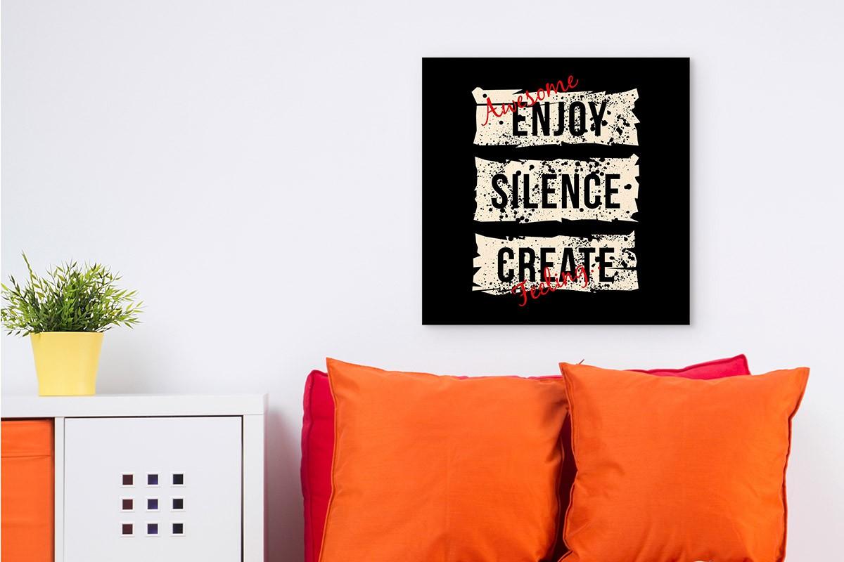 Ξύλινο πόστερ ENJOY SILENCE