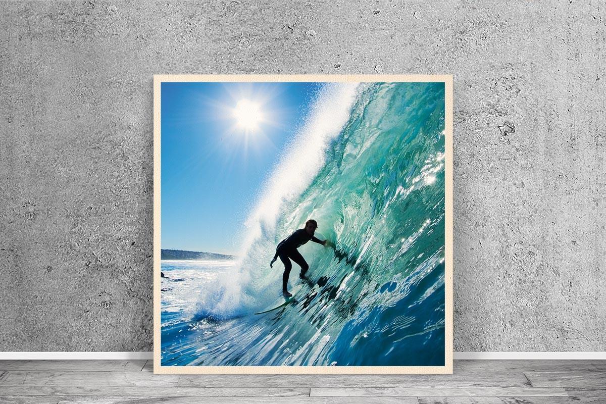 Ξύλινο πόστερ SURFING