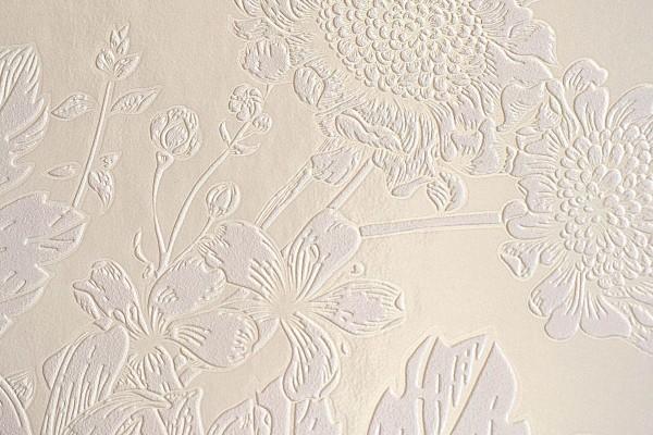 FLOWER & BUTTERFLY WHITE